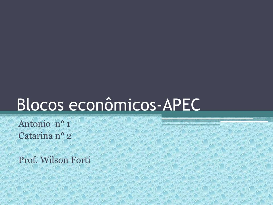 Blocos econômicos-APEC