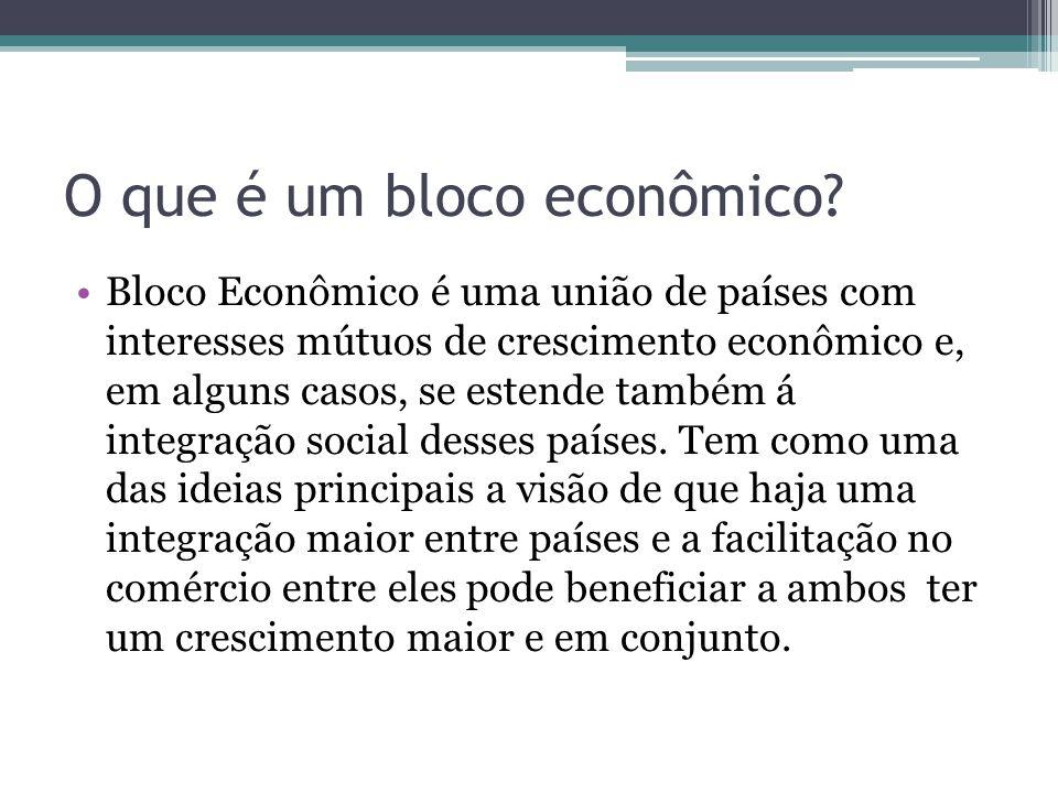 O que é um bloco econômico