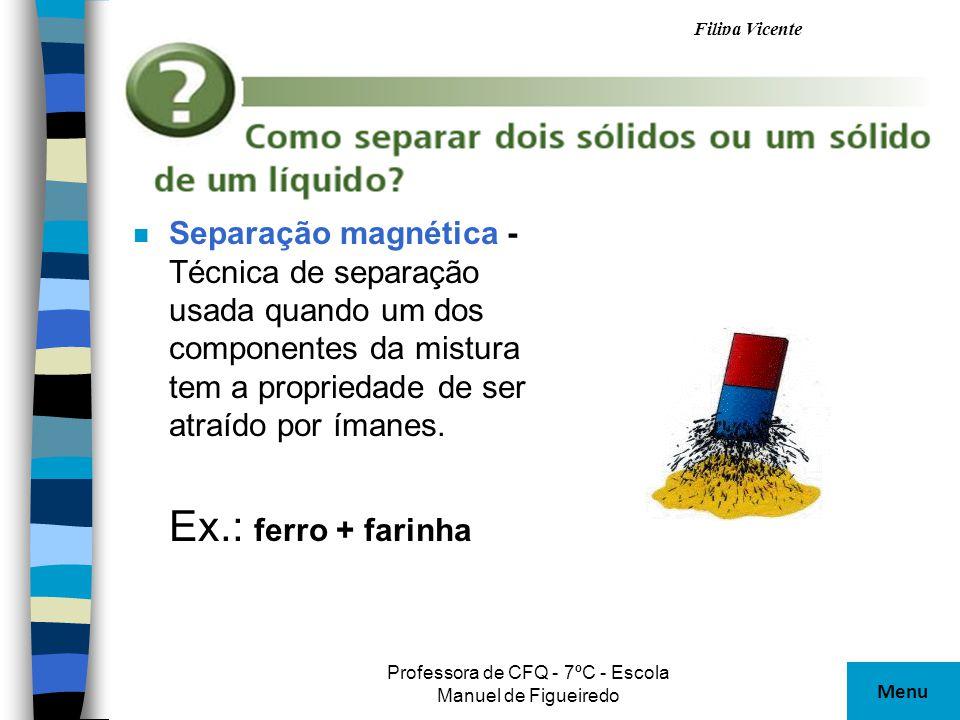 Professora de CFQ - 7ºC - Escola Manuel de Figueiredo