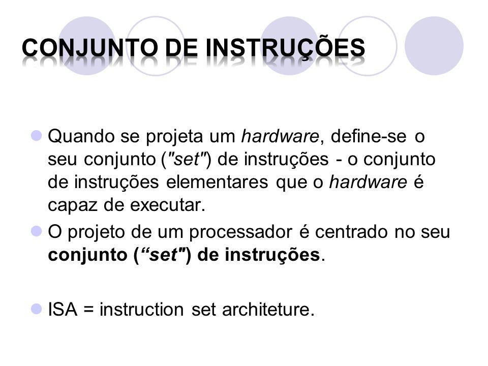 Conjunto de Instruções