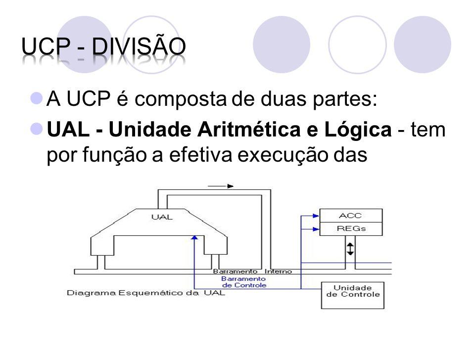 UCP - divisão A UCP é composta de duas partes: