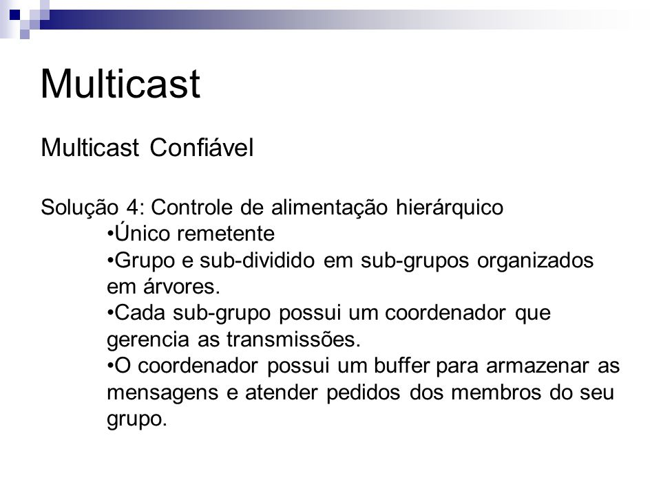 Multicast Multicast Confiável