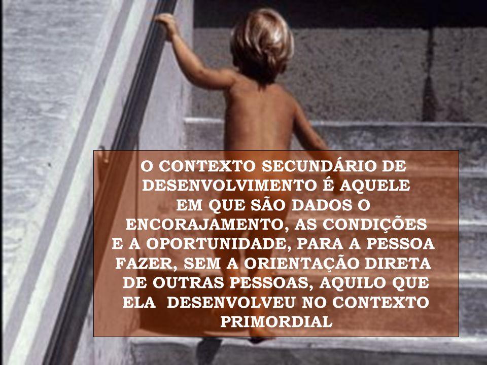 O CONTEXTO SECUNDÁRIO DE DESENVOLVIMENTO É AQUELE EM QUE SÃO DADOS O