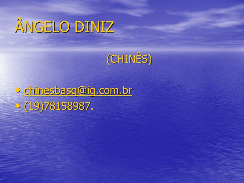 ÂNGELO DINIZ (CHINÊS) chinesbasq@ig.com.br (19)78158987.