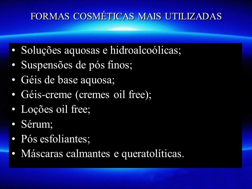 FORMAS COSMÉTICAS MAIS UTILIZADAS