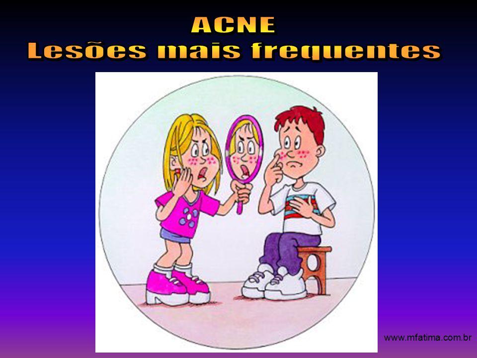 Lesões mais frequentes