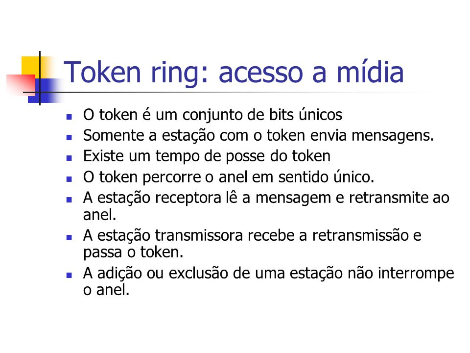 Token ring: acesso a mídia