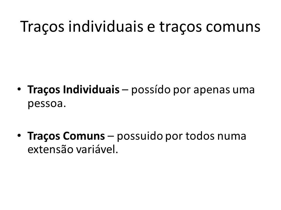 Traços individuais e traços comuns