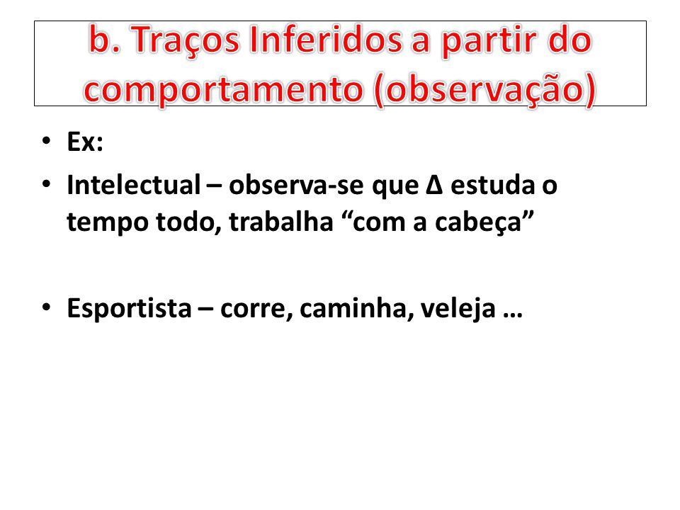 b. Traços Inferidos a partir do comportamento (observação)