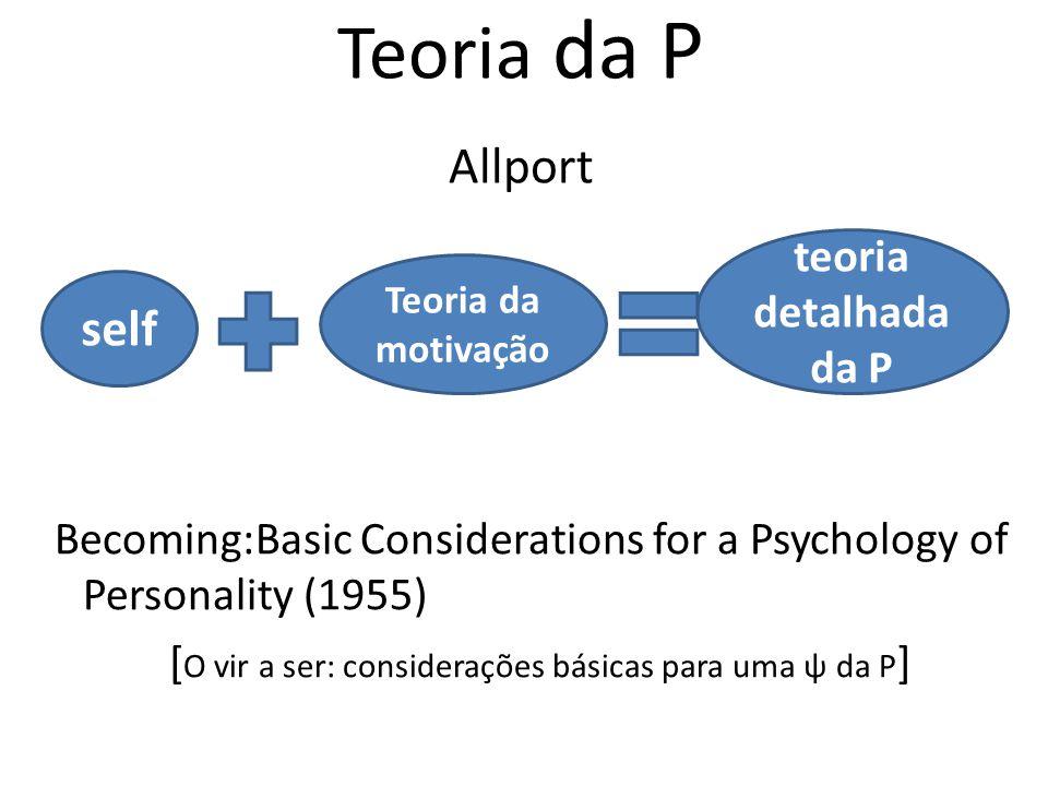 Teoria da P Allport self teoria detalhada da P