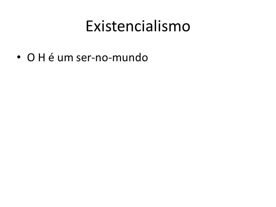 Existencialismo O H é um ser-no-mundo