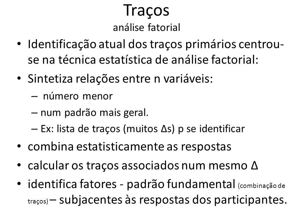Traços análise fatorial