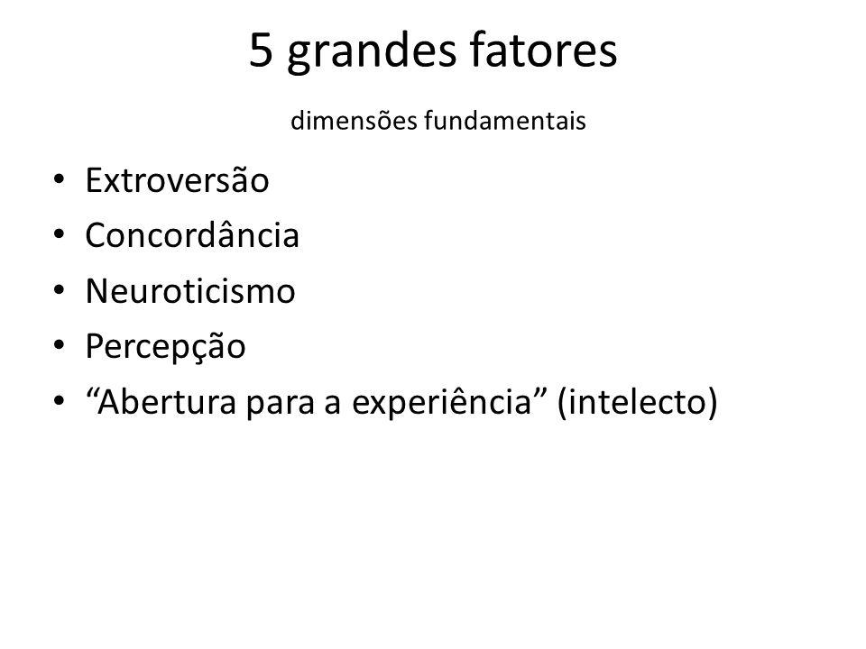 5 grandes fatores dimensões fundamentais