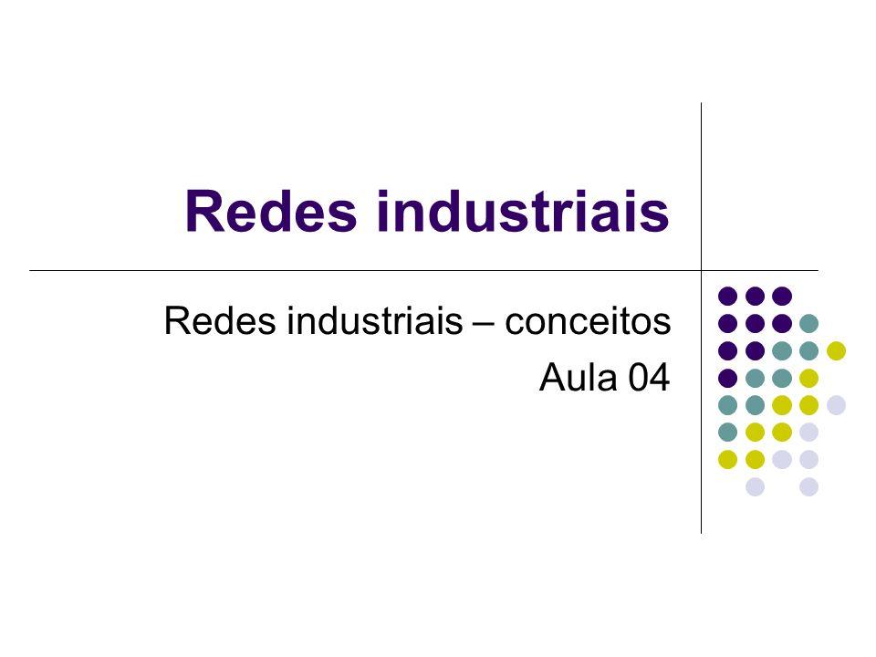 Redes industriais – conceitos Aula 04