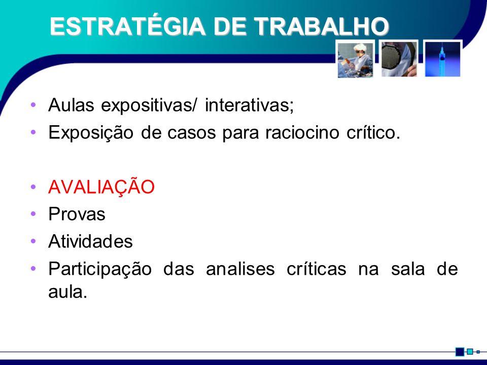 ESTRATÉGIA DE TRABALHO