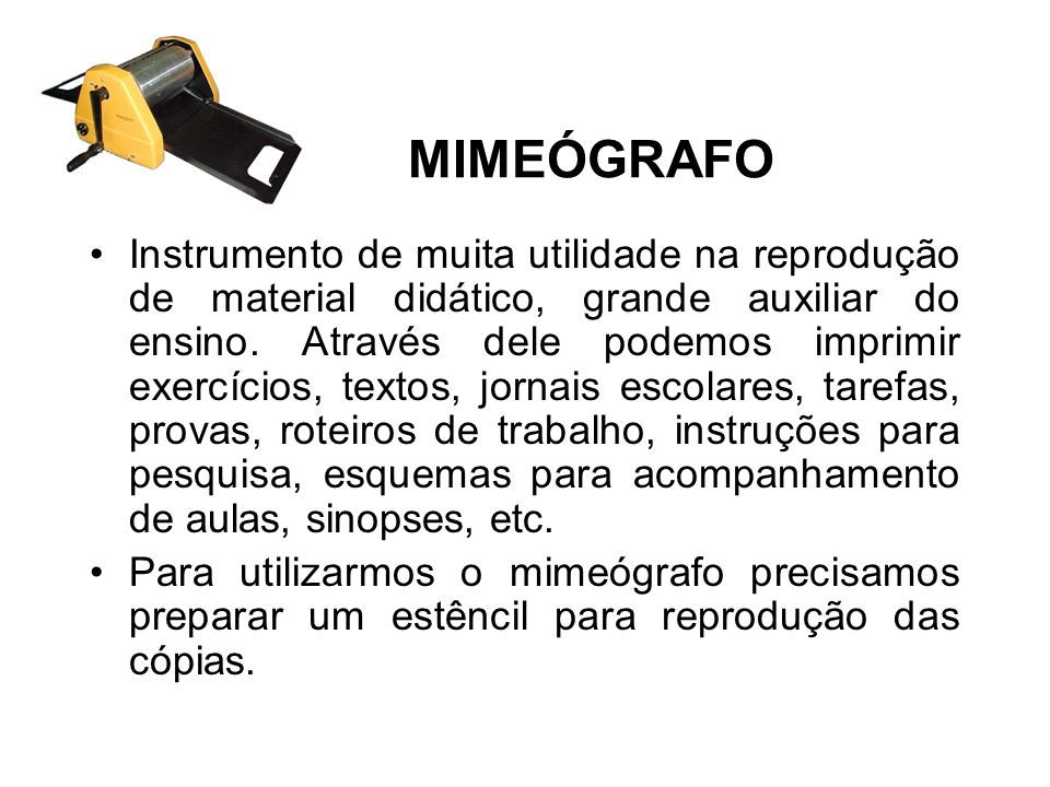 MIMEÓGRAFO