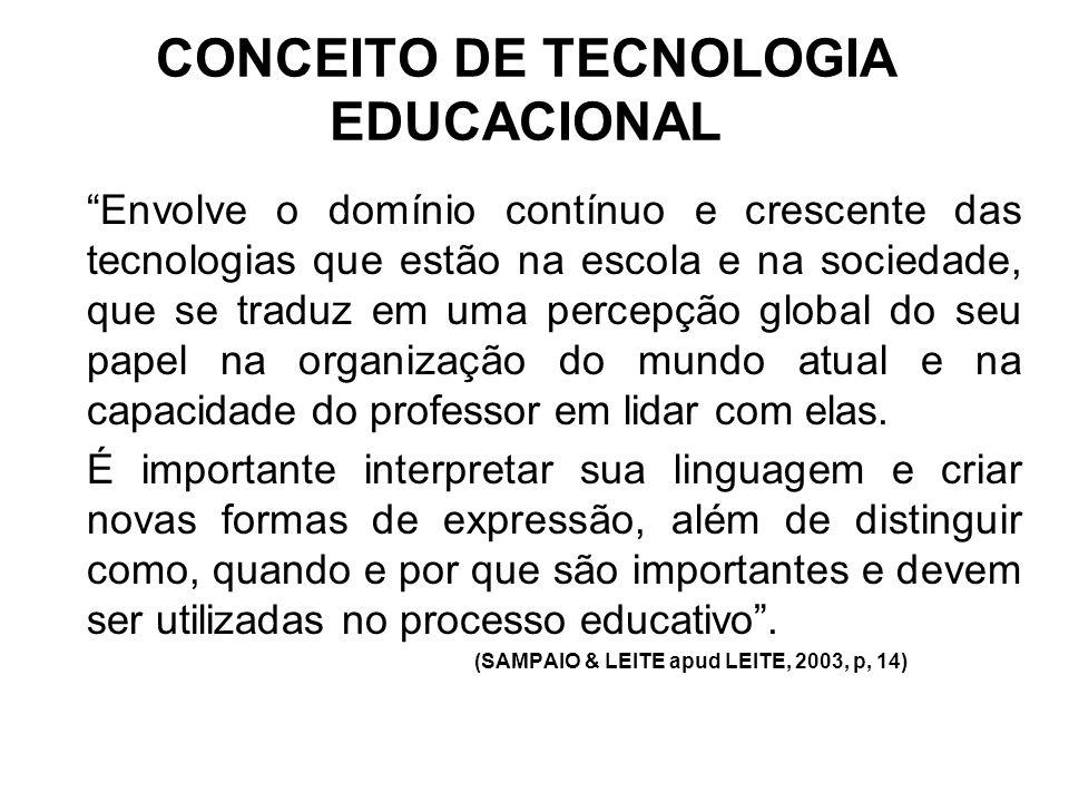 CONCEITO DE TECNOLOGIA EDUCACIONAL