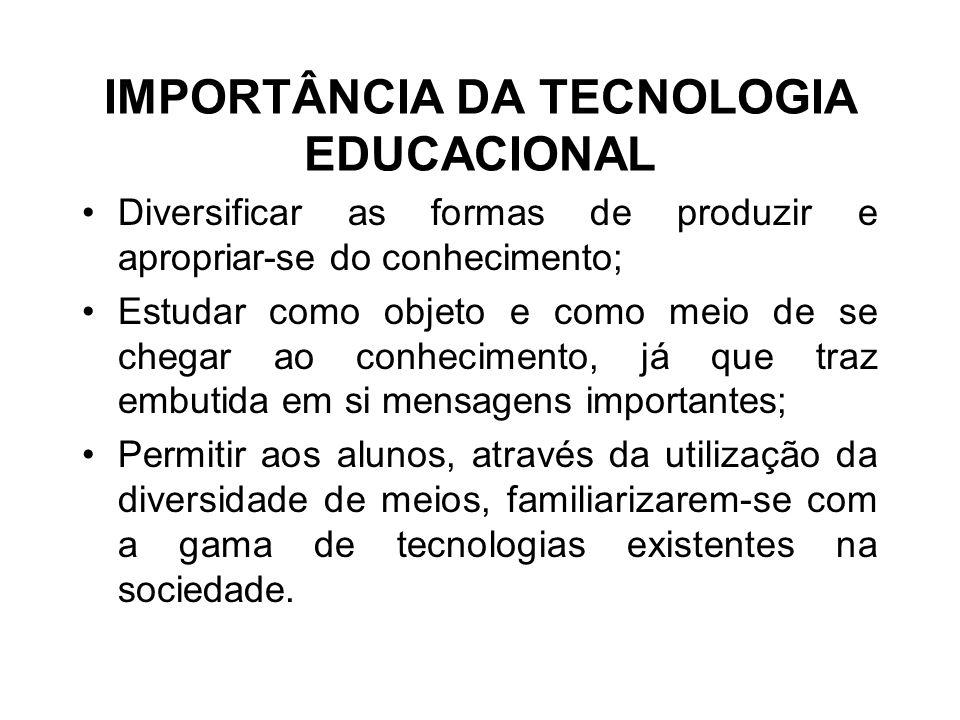 IMPORTÂNCIA DA TECNOLOGIA EDUCACIONAL