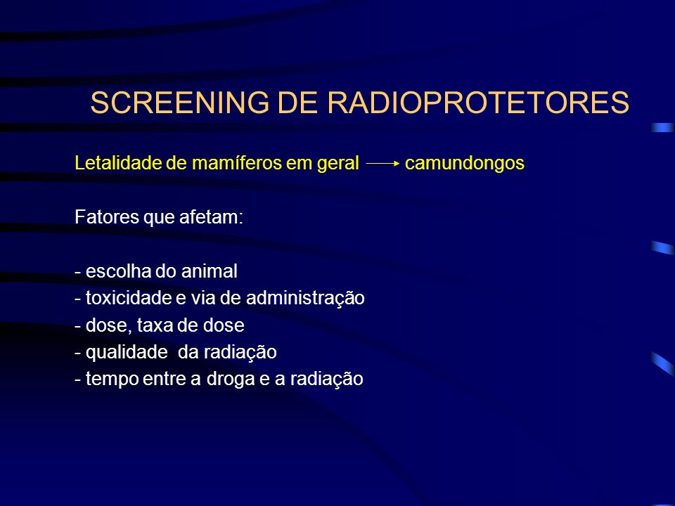 SCREENING DE RADIOPROTETORES