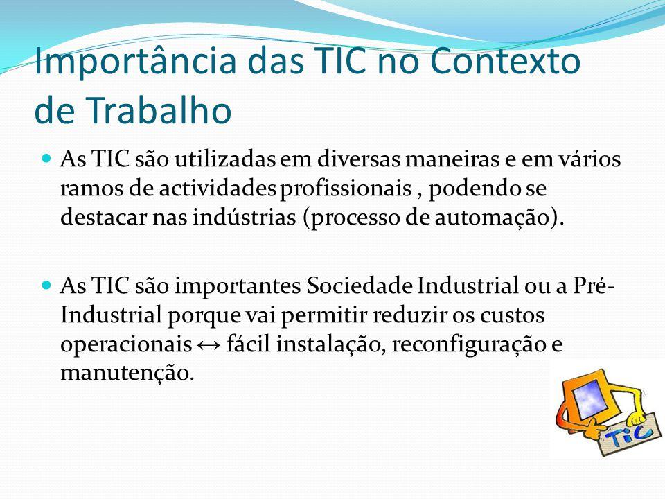 Importância das TIC no Contexto de Trabalho