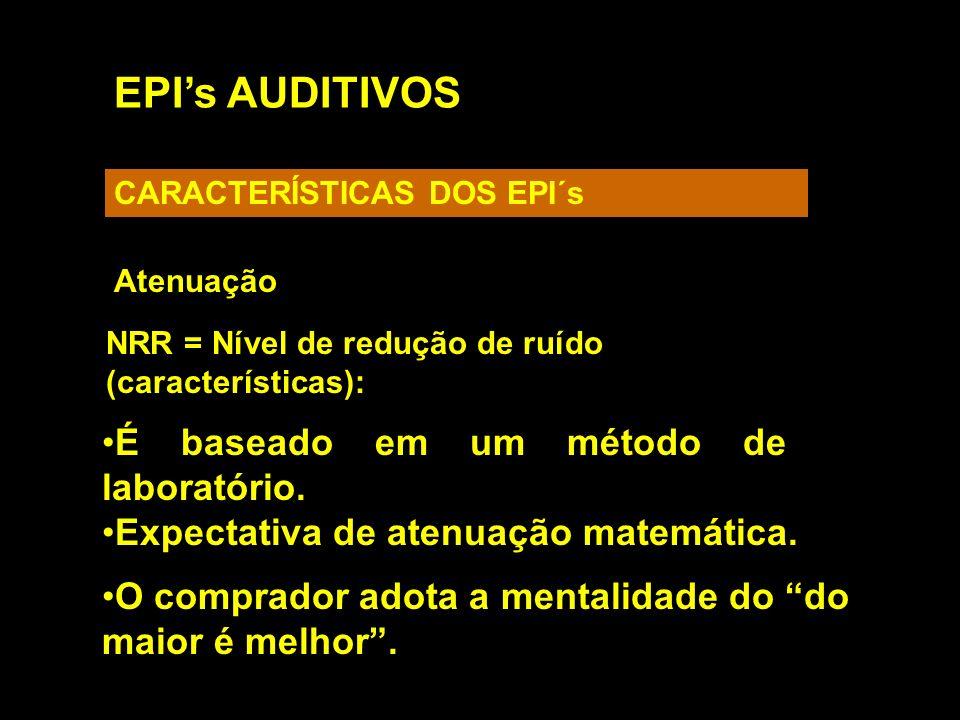 EPI's AUDITIVOS É baseado em um método de laboratório.
