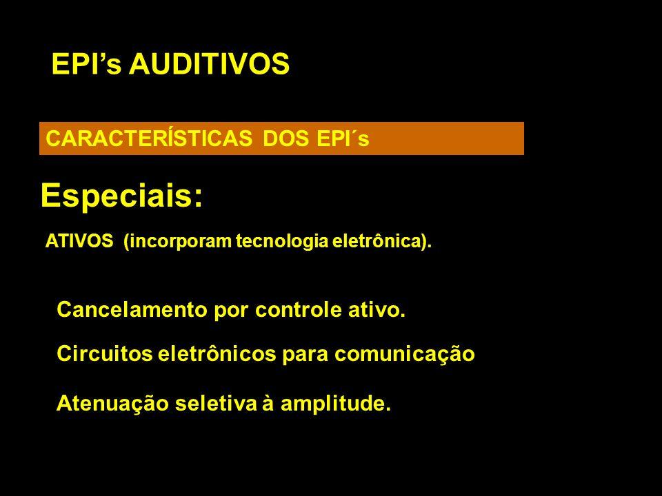 Especiais: EPI's AUDITIVOS CARACTERÍSTICAS DOS EPI´s