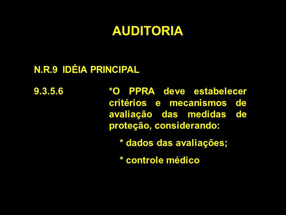 AUDITORIA N.R.9 IDÉIA PRINCIPAL