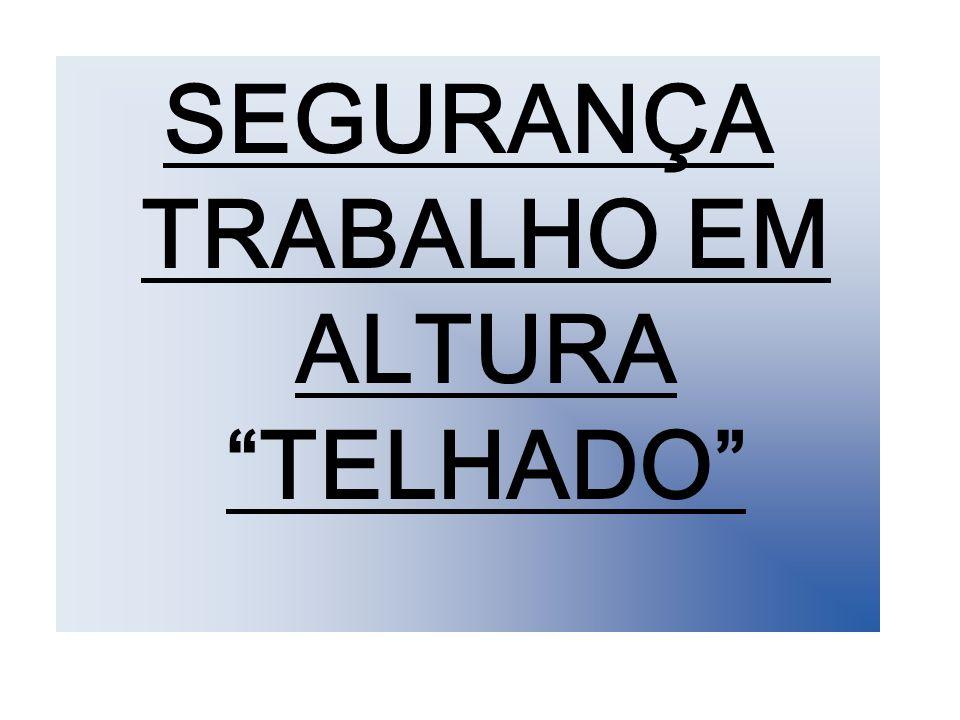 SEGURANÇA TRABALHO EM ALTURA TELHADO