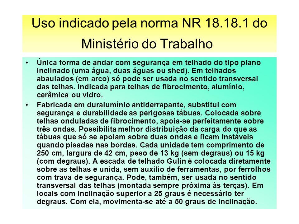 Uso indicado pela norma NR 18.18.1 do Ministério do Trabalho