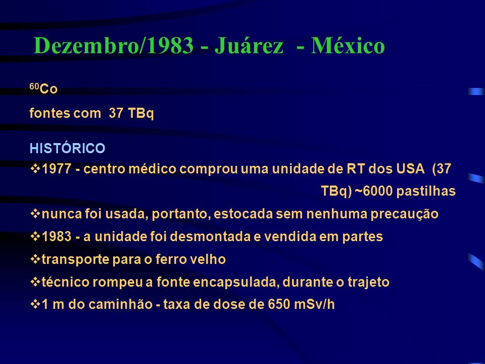 Dezembro/1983 - Juárez - México