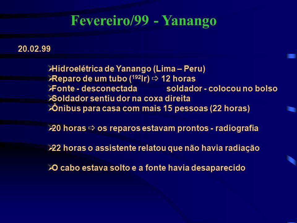 Fevereiro/99 - Yanango 20.02.99 Hidroelétrica de Yanango (Lima – Peru)