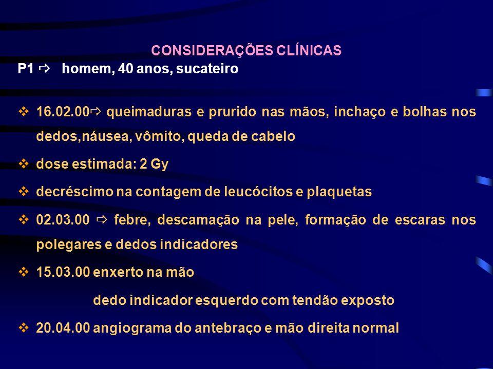 CONSIDERAÇÕES CLÍNICAS