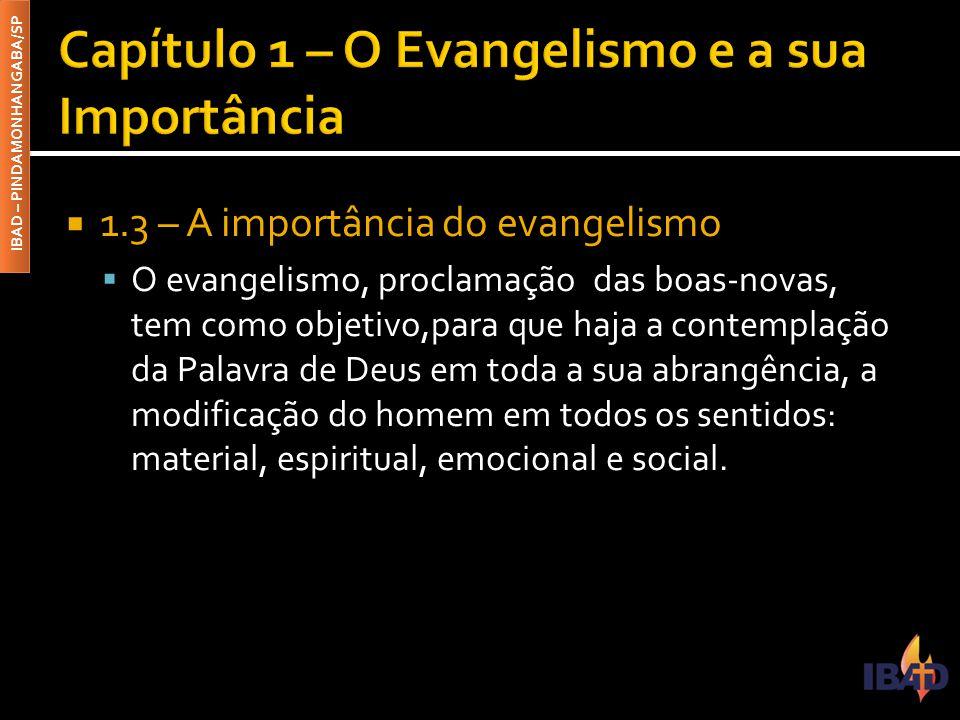Capítulo 1 – O Evangelismo e a sua Importância