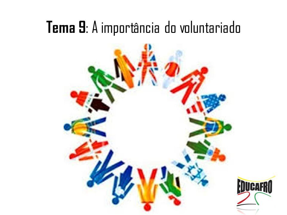 Tema 9: A importância do voluntariado