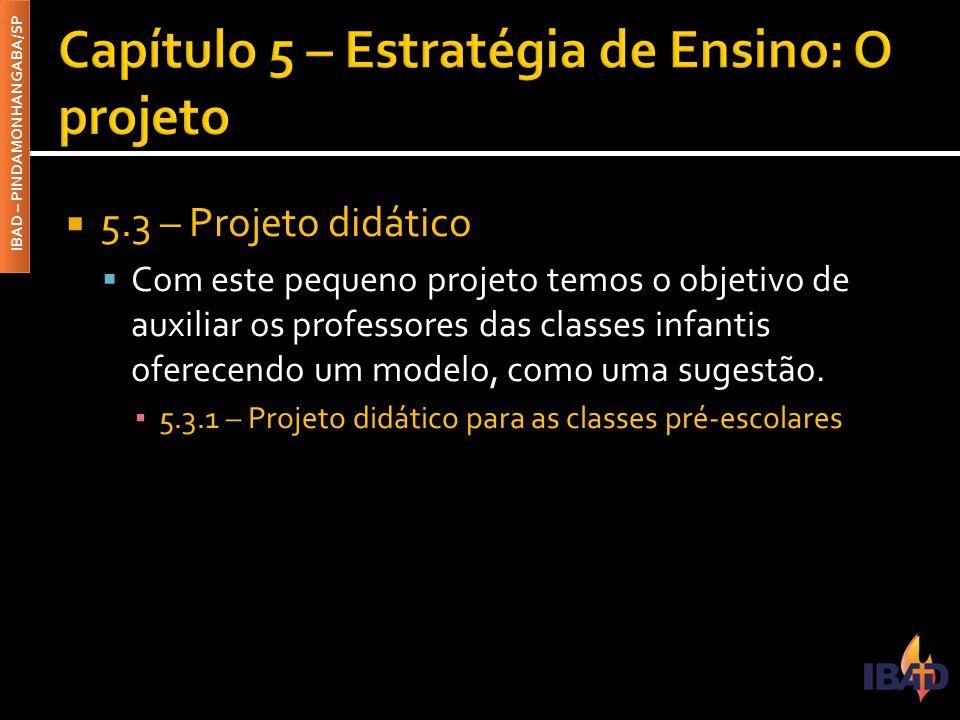 Capítulo 5 – Estratégia de Ensino: O projeto