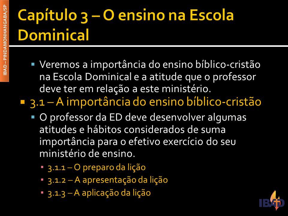 Capítulo 3 – O ensino na Escola Dominical