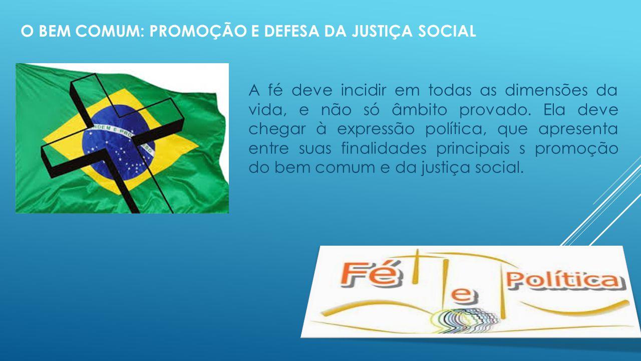 O bem comum: promoção e defesa da justiça social