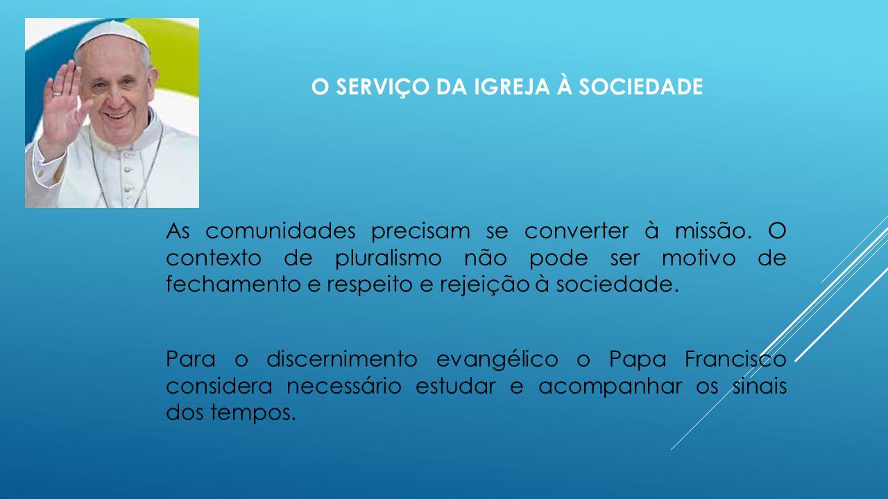 O serviço da Igreja à sociedade