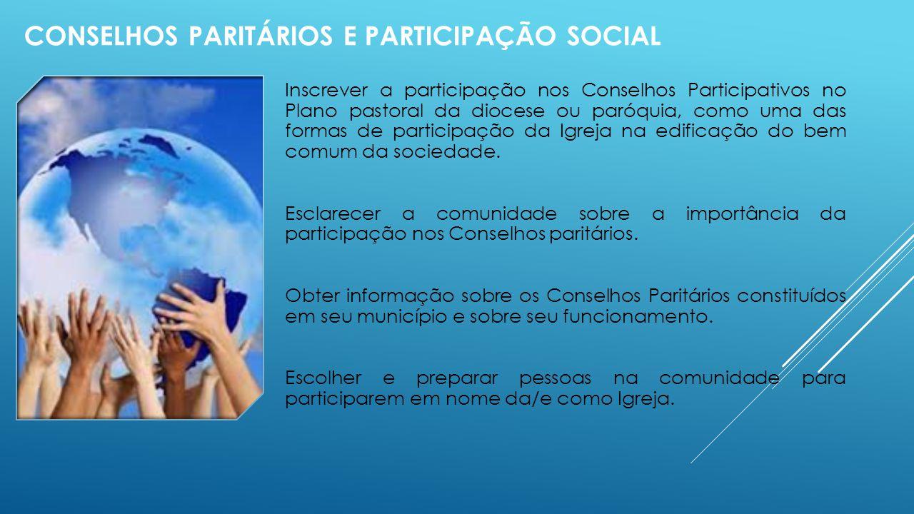 Conselhos Paritários e participação social