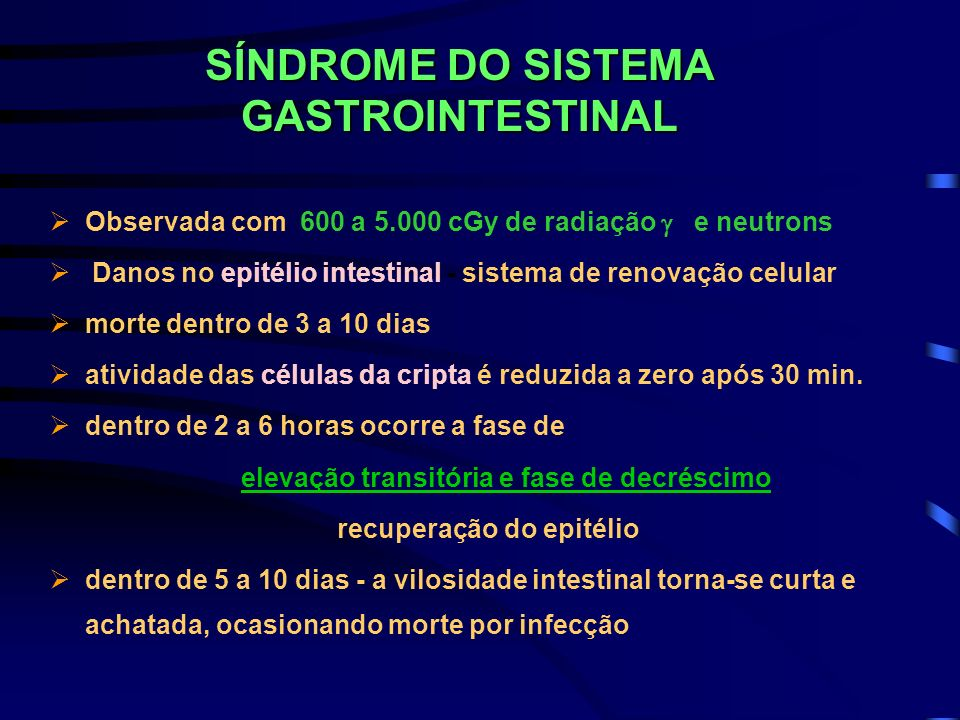 SÍNDROME DO SISTEMA GASTROINTESTINAL