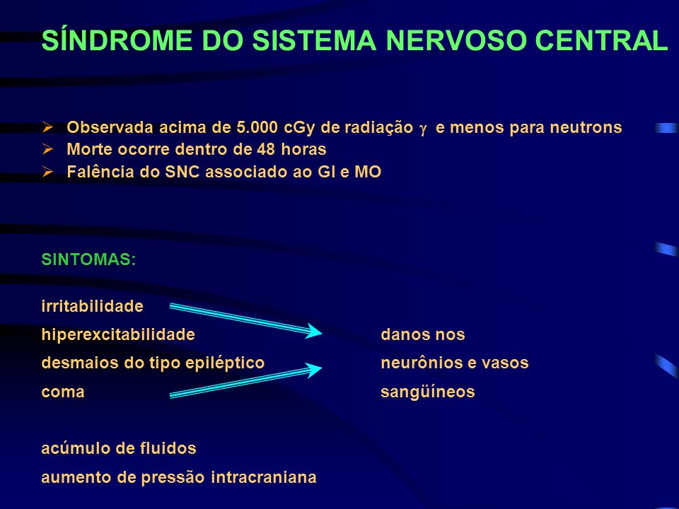 SÍNDROME DO SISTEMA NERVOSO CENTRAL