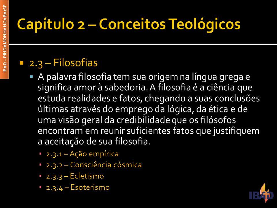 Capítulo 2 – Conceitos Teológicos