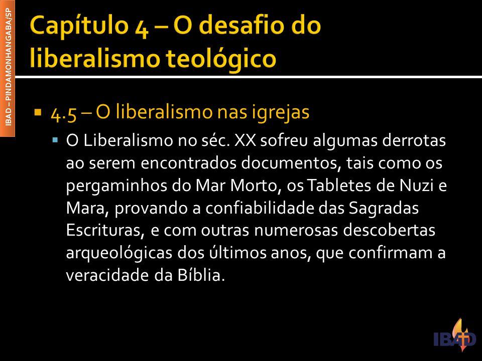 Capítulo 4 – O desafio do liberalismo teológico