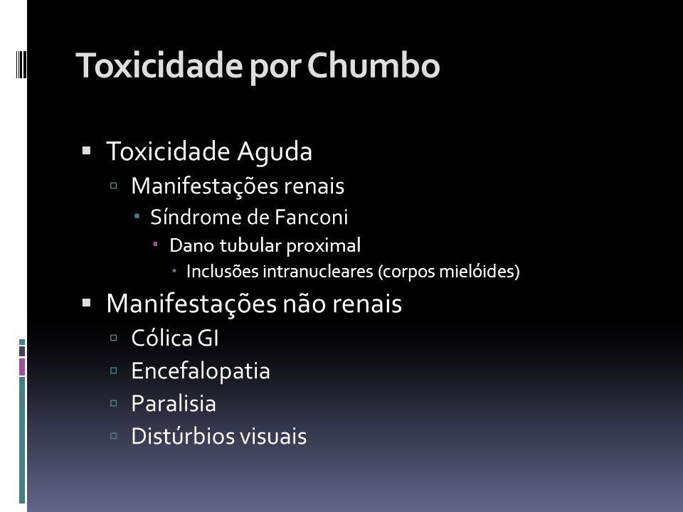 Toxicidade por Chumbo Toxicidade Aguda Manifestações não renais