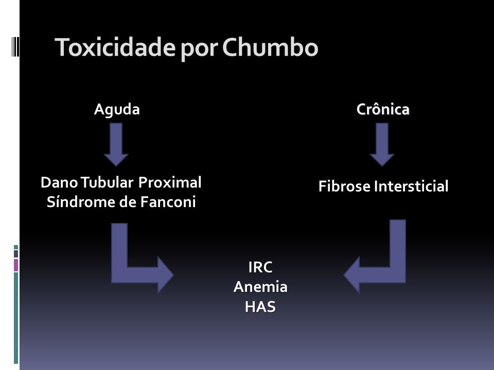 Toxicidade por Chumbo Aguda Crônica Dano Tubular Proximal