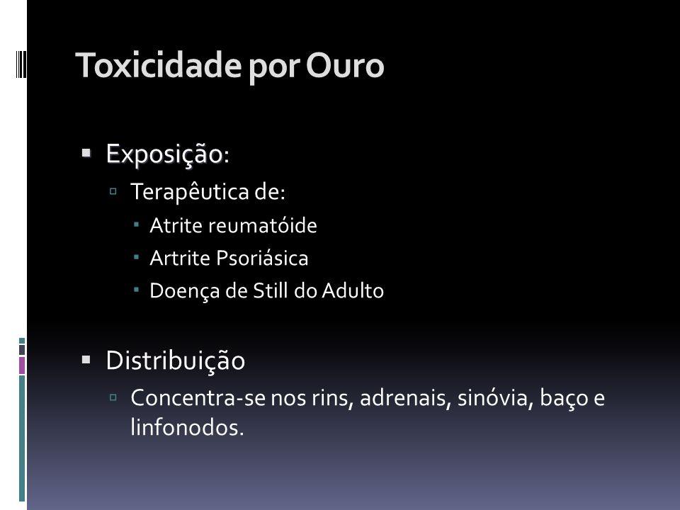 Toxicidade por Ouro Exposição: Distribuição Terapêutica de: