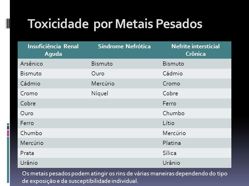 Toxicidade por Metais Pesados