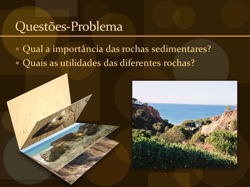 Questões-Problema Qual a importância das rochas sedimentares