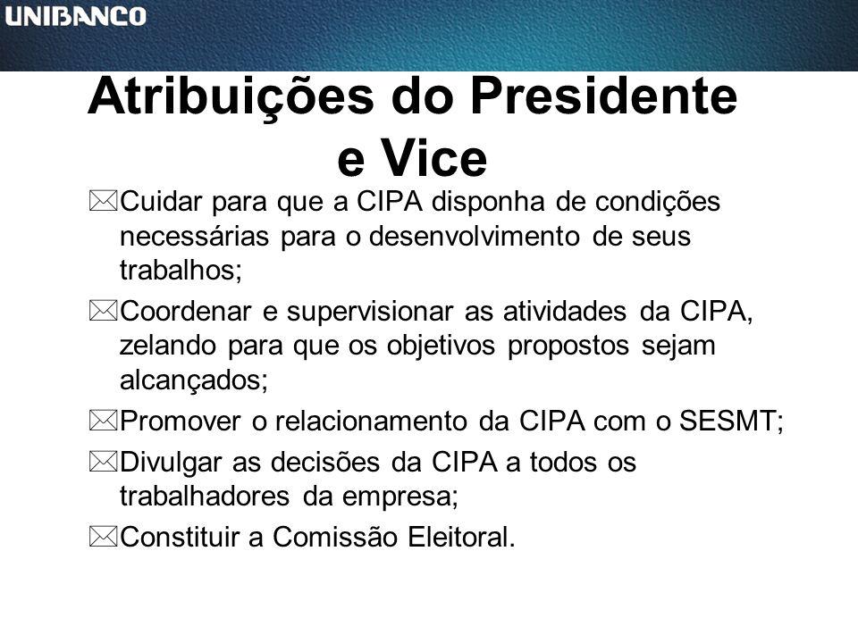 Atribuições do Presidente e Vice