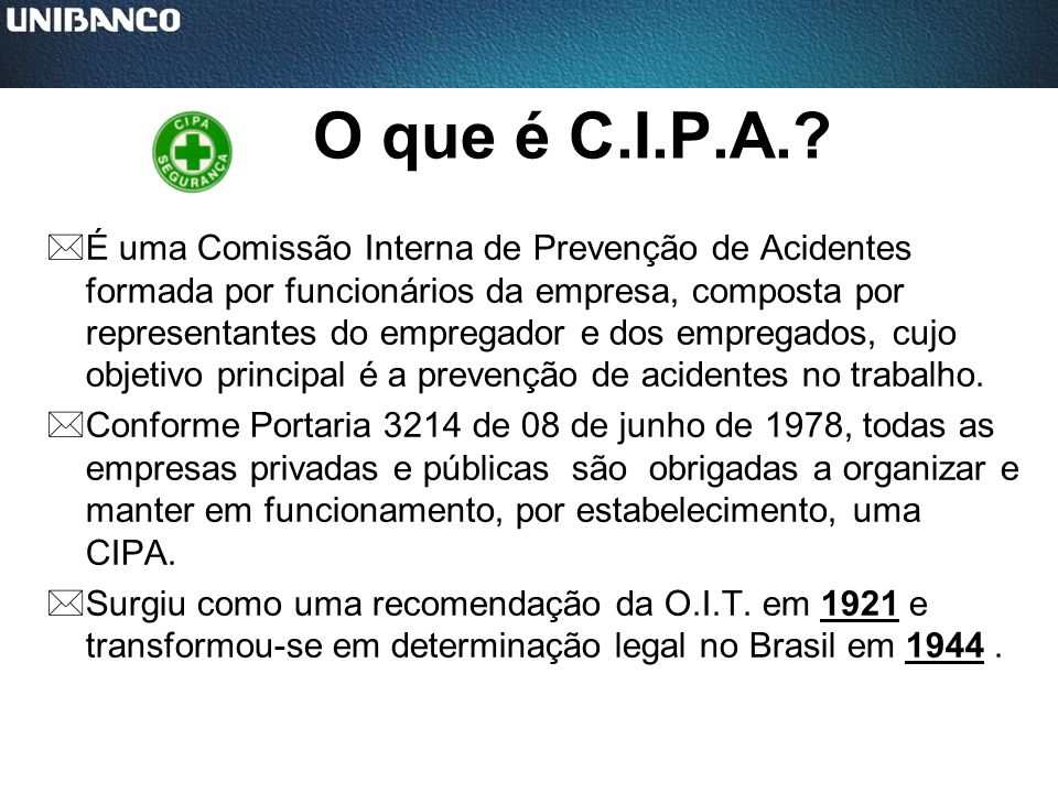 O que é C.I.P.A.
